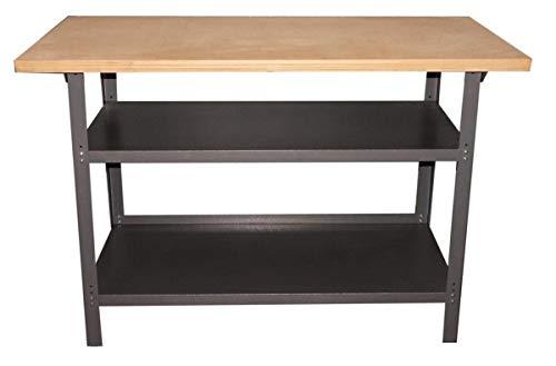 TrendLine Werkbank 120x60x85cm 2 Ablageböden Werktisch Werkstatt Arbeitstisch