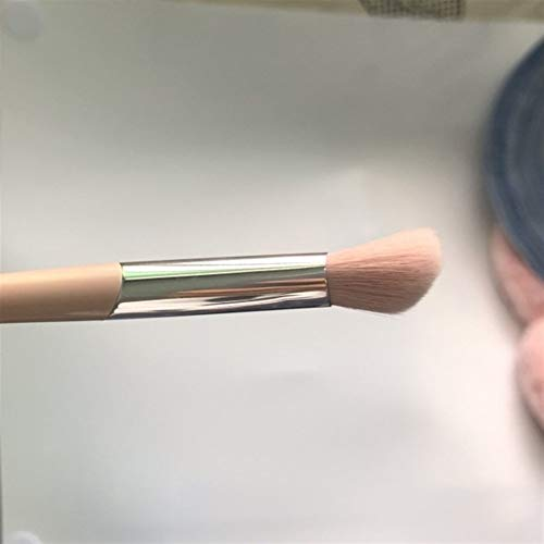 La Prime Rose Fluffy surligneur Pinceau de Maquillage de précision fuselé Sélectionnez l'outil Pinceau de Maquillage Blending (Handle Color : Angled Head Brush)