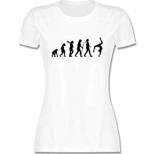 Evolution - Evolution Turnen - S - Weiß - Evolution Turnen - L191 - Tailliertes Tshirt für Damen und Frauen T-Shirt