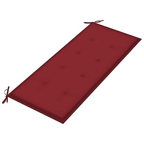 Tidyard Cojín para Banco de jardín Cojin para palés Confort - Cojin de Asiento o Respaldo para sofás palets Tela Rojo Tinto 120x50x4 cm