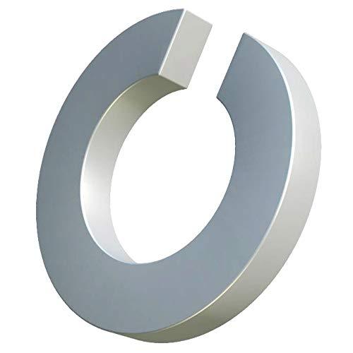 M16 arandelas de resorte, anillo partido, arandelas abiertas de acero galvanizado, arandela de sección cuadrada de bobina simple, anillo de junta para perno/tornillo DIN 127 de 16 mm (paquete de 25)