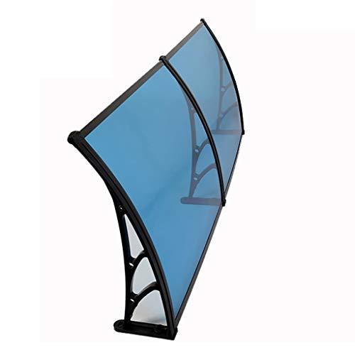 Deurluifel PC polycarbonaat luifel regen shelter deur Canopy luifel venster regen beschermende afdekking voor voordeur Porch-6 maten 80×160cm B
