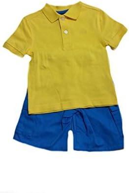 IZOD Little Boys' Yellow Shirt Short Set Kids- Size 4