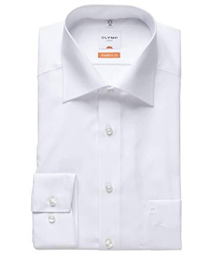 Modern Fit Hemd Langarm m New Kent Kragen 43 [Weiß]