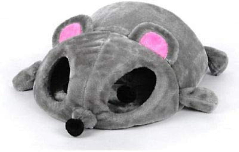 FidgetFidget Cat Bed Pet House Cushion Nest Soft Cave Mat Sleeping Bed Mouse Shape