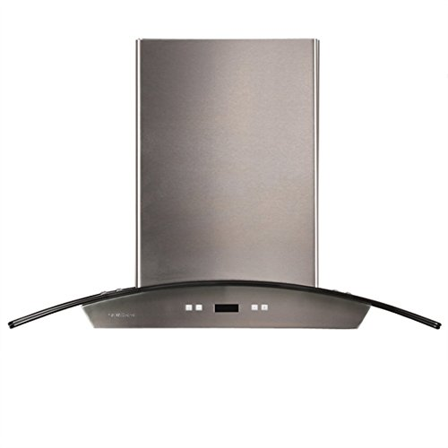 CAVALIERE 36' Island Mounted Stainless Steel/Glass Kitchen Range Hood 900 CFM SV218D-I36