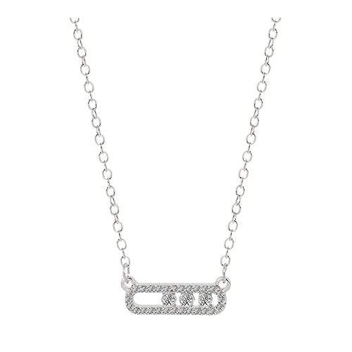 SFQRYP Collar Colgante de Cuentas de Cristal de Estilo para Mujeres Dainty Wedding Jewelry Link Dot en el Collar de Metal Ovalado (Metal Color : XL2302)