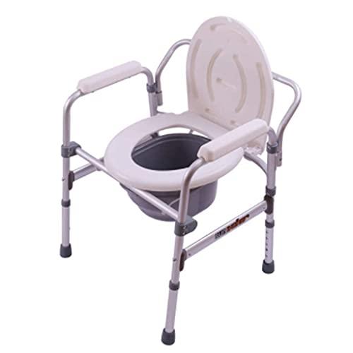 N&O Renovation House Medizinische Nachtkommoden Medizinische höhenverstellbare Dusche Nachtkommode Stuhl Ergonomische Rückenlehne für ältere Menschen mit Behinderungen und Behinderte Toilette