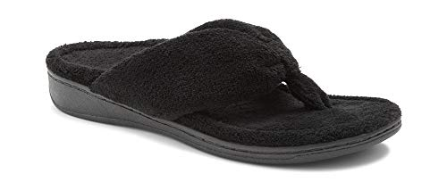 Vionic Women's Indulge Gracie Slipper - Ladies Toe-Post Thong Slippers with Concealed...