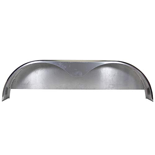 ToughGrade 2 Pack Steel Diamond Plate Flat Top Fender 9 X 34 X 17