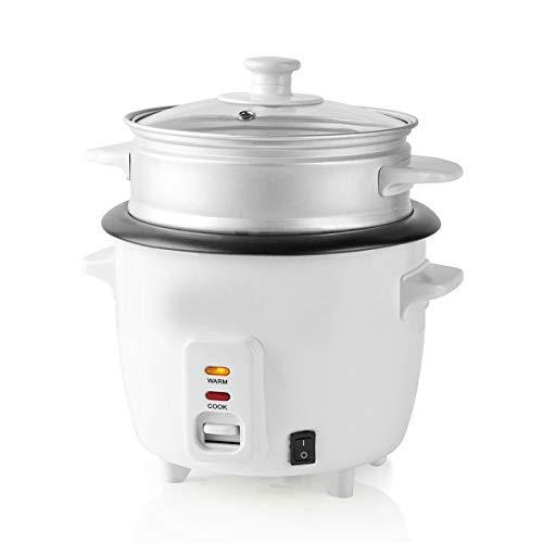 TronicXL 300 Watt 0,6 Liter Reiskocher mit Dampfgarer-Einsatz Multikocher elektro elektrisch Asia asiatisch kochen japanisch japan china chinesisch Reisbereiter kompakt antihaftbeschichtet