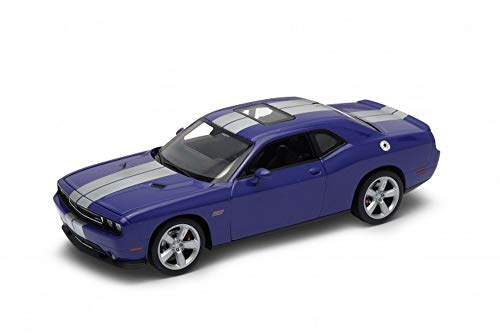 Welly 2013 Dodge Challenger SRT Hard Top 1/24 Scale Diecast Model Car Purple by Welly