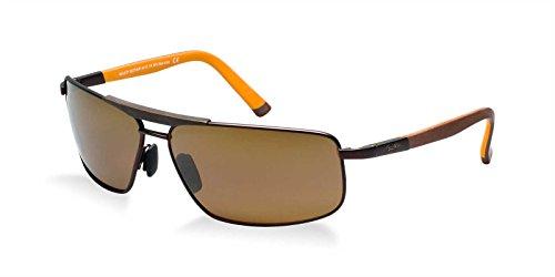 Maui Jim H271-01M Matte Chocolate Orange Keanu Square Aviator Sunglasses Polarised: Maui Jim