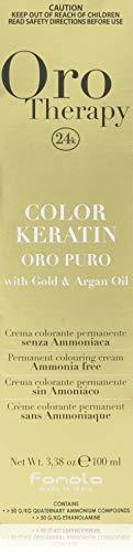 Fanola - Oro Therapy Color Keratin Puro, crema colorante permanente 100 ml 6 Dunkelblond