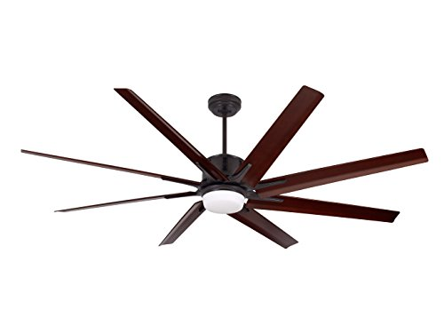 Emerson CF985LORB Aira Eco 72-inch Modern Ceiling Fan, 8-Blade Ceiling Fan with LED Lighting and 6-Speed Wall Control