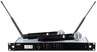 Shure ULXD24D/SM58 Dual Receiver Handheld Wireless System with ULXD4D and ULXD2/SM58, G50 Band 470-534MHz