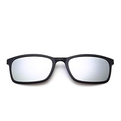 NIUASH Sonnenbrille polarisiert Polarisierte Sonnenbrille Männer Frauen Magnetclip auf Brille TR90 Optische Cat Eye Brille Full Frame Treiberbrille-F