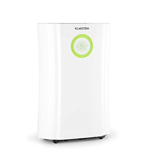 KLARSTEIN DryFy Pro Connect deshumidificador - Deshumidificador por compresión, purificador de Aire Integrado con Filtro, ionizador y función UV, Interfaz WiFi, Potencia 370 W, Blanco