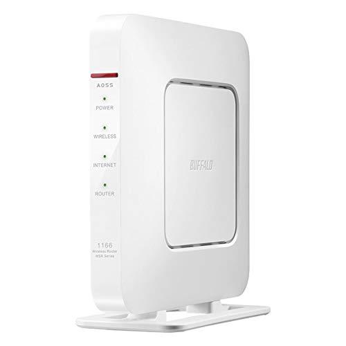 バッファロー 11ac対応 866+300Mbps 無線LANルータ(親機単体)(ホワイト) WSR-1166DHP4-WH