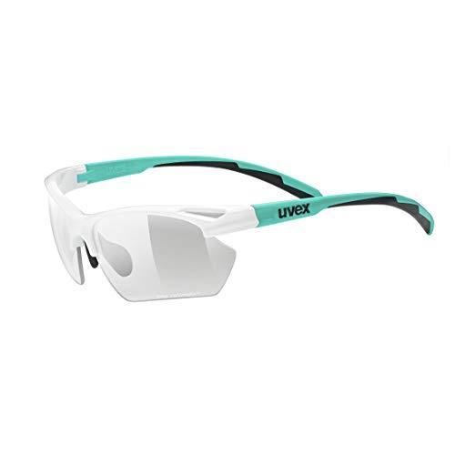 uvex Unisex– Erwachsene Sportstyle 802 small Vario Sportbrille, White Mint/Smoke, one Size