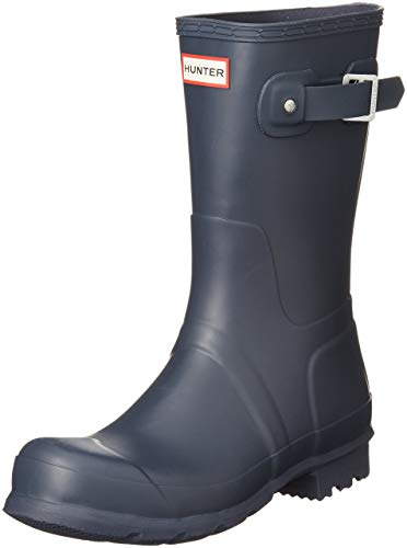 HUNTER Mens Original Short Rain Boots Navy 7 M