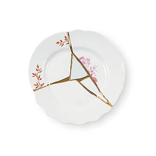 Seletti Kintsugi Piatto frutta in porcellana e oro 24 carati mod. 1