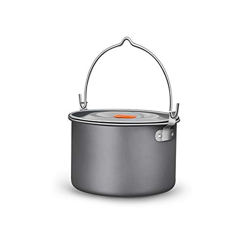 Pvnoocy Trípode de camping de hierro fundido para cocinar al aire libre (olla individual)