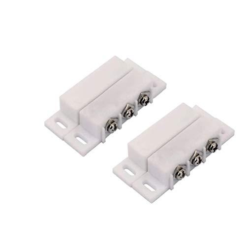 Sanfiyya Interruptor de Lengüeta Alarma Normalmente Abierto Cerrado NC NA Ventana de la Puerta de Seguridad de Contacto Kit de sensores de 5V DC 12V 24V 2 Piezas