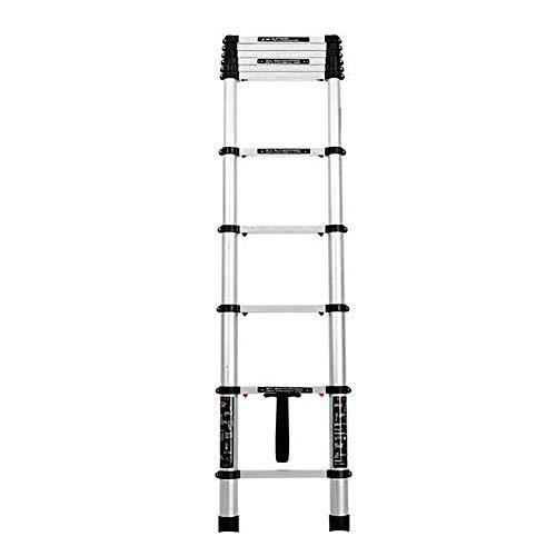 Aluminium Teleskopleiter Folding Herringbone Leiter verdicken Projekt Dachgeschoss Treppen Heimleiter Aufzug Gerade Ladder Stabilität und Sicherheit