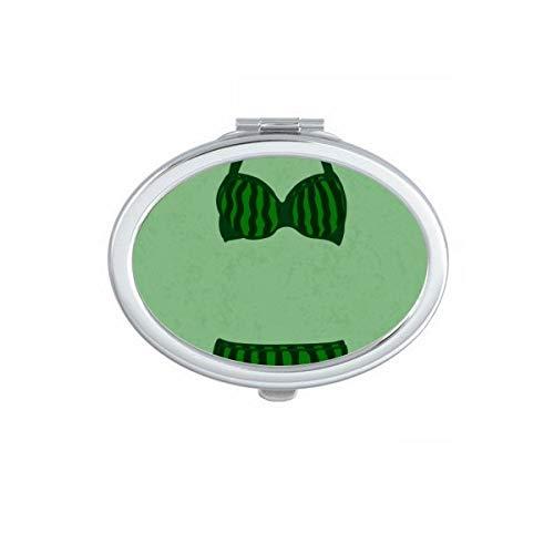 DIYthinker Stripe Sexy Cyan Bikini Set Illustration Ovale Miroir de Maquillage Compact Portable Mignon Miroirs de Poche à la Main Cadeau