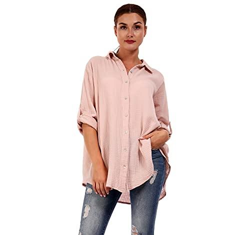Bluzka damska oversized długa bluzka Loose-Fit w wielu kolorach One Size
