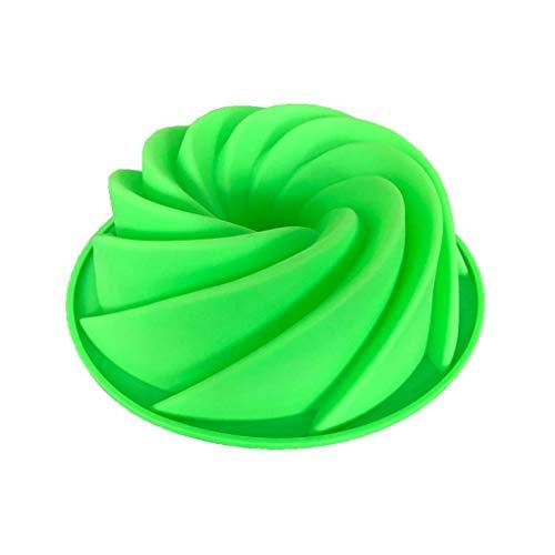 Molde de Silicona DIY Espiral Gasa Torta de la Galleta Herramienta de Hornear el Pastel de Galletas 7.5inch Color al Azar