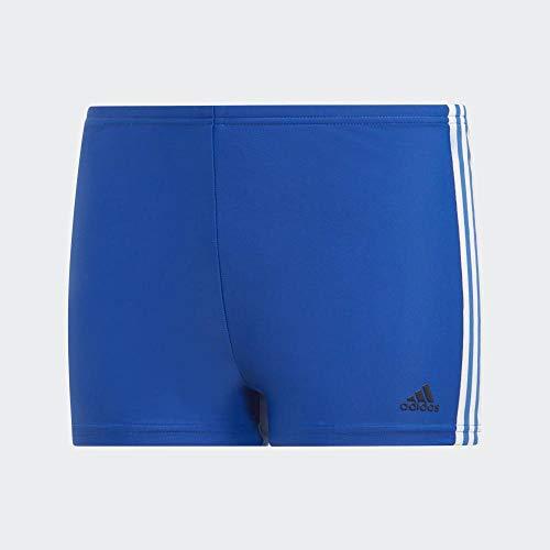adidas Jungen Fit 3-Streifen Boxer Badehose, Collegiate Royal, 140
