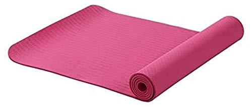 Jszzz Beweglich und bequem 6MM TPE Anti-Rutsch-Yoga-Matten for Fitness Tasteless Marke Pilates Mat 8Color Gym Übung Sport-Matten-Auflagen mit Yoga-Tasche Yoga Gurt Fitnessmatte (Color : Red)