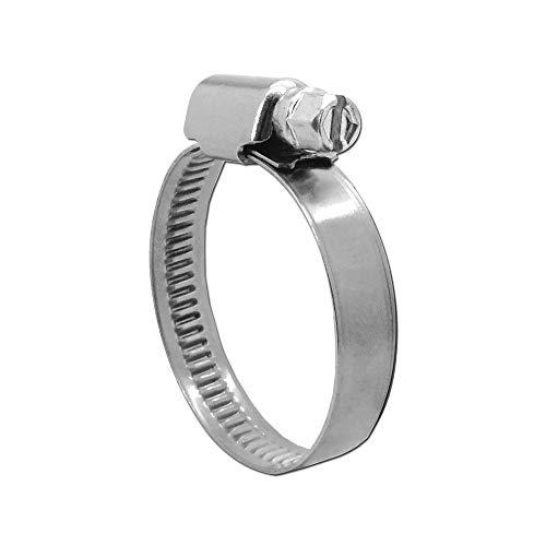 Irondo® Schellen Schlauchschellen V4A Edelstahl W5 8mm -130mm Schneckengewinde Ring-Schelle 9mm Bandbreite Rostfrei, Spannbereich:60-80mm | 10 Stk.