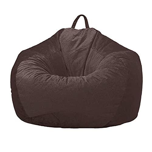 Puf único funda para sofá perezoso (sin relleno) para adultos de almacenamiento de animales de peluche Puf silla cubierta para niños reclinable interior y exterior para adultos y niños