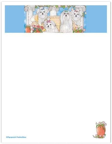 outlet Animal Theme Gifts Maltese Stationery Large Set Cheap bargain