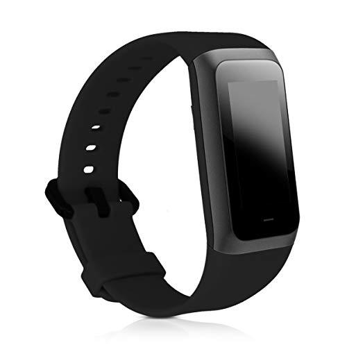 kwmobile Pulsera Compatible con Xiaomi Huami Amazfit Cor 2 / Amazfit Band 2 -  Brazalete de Silicona en Negro sin Fitness Tracker