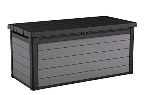 Keter Premier 150 Gallon Resin Large Deck Box for Patio Garden Furniture,...