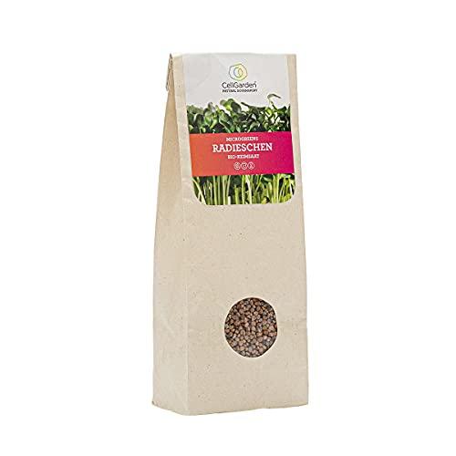 Cell Garden® Radieschen Samen Bio | 200 g – Radieschen Sprossen Samen für Sprossen und Microgreens mit hoher Keimfähigkeit - 100{cec937d7fb74160ed896fb394aebdc76874c3baa2cf628899d5a27623067dce0} Laborgeprüfte BIO-Qualität – mit Keimanleitung