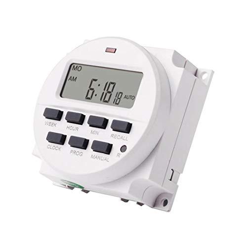 YepYes Interruptor Temporizador programable Temporizador TM618N-2 LCD con Tiempo de Cuenta atrás función Blanco
