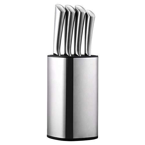 Cuchillos de cocinero Cuchillo de cinco piezas Bloque portacuchillos kit de herramienta de cocina cuchillo de acero inoxidable creativa informal insertada (Color : Knife set)