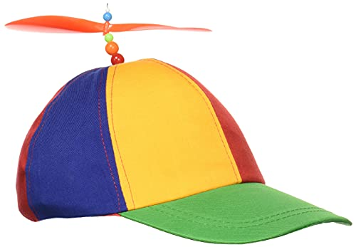 Forum Novelties unisex adult Classic Propeller Hat Costume Headwear, Multi, One Size US
