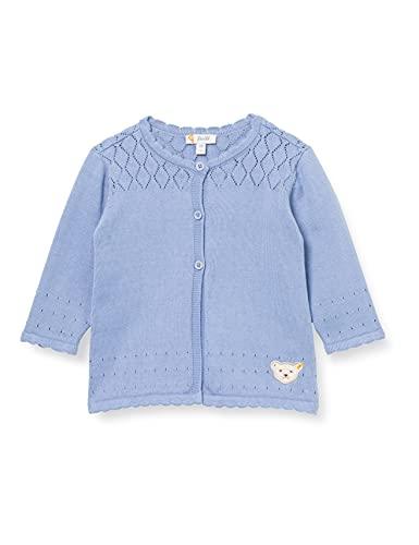 Steiff Strickjacke Suéter cárdigan, Brunnera Blue, 68 cm para Bebés