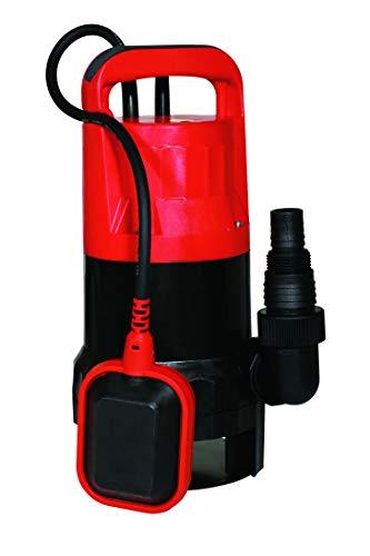 Spid'O ECOP 115 Pompe d'évacuation vide cave pour eaux chargées, 550 W, 12 m3/h, composite Rouge