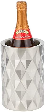mDesign Modern Metal Wine Bottle Cooler Chiller Bucket Double Wall Insulated Stainless Steel product image