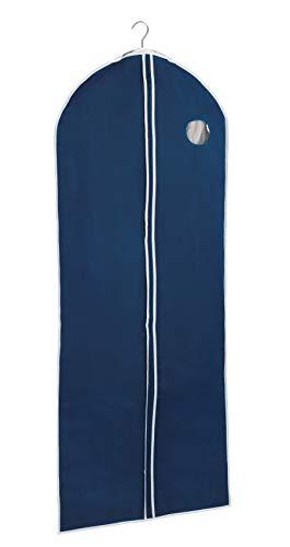 WENKO Kleidersack Air, für Reisen oder zum Verstauen, mit praktischem Sichtfenster & durchgehendem Reißverschluss, schützt vor Motten, Staub & Schmutz, atmungsaktives Vlies-Material, 60x150 cm, Navy