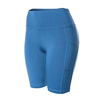 VALINNA Yoga Workout Athletic Gym Running Shorts for Women High-Waist Tummy Control Compression Short Pants