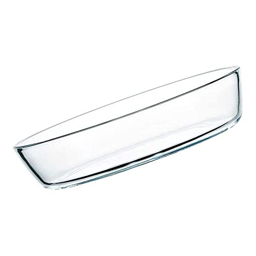 YuKeShop Microwave Glass Plate Glass Oval Baking Pan Glass Oval Casserole Baking Dish Dessert Pie Plates Oval Salad Bowl for Home Bakery Glass Baking Accessories 1600 ml