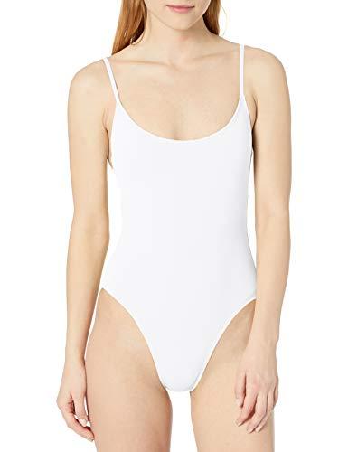 Anne Cole Studio Women's Vintage Lingerie Maillot One Piece Basic Swimsuit, White, 12